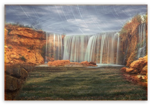 Waterfall HD wallpaper for Mobile 3:2 - DVGA HVGA HQVGA devices ( Apple PowerBook G4 iPhone 4 3G 3GS iPod Touch ) ;
