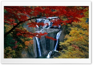 Waterfall, Autumn HD Wide Wallpaper for 4K UHD Widescreen desktop & smartphone