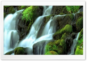 Waterfall Close-up HD Wide Wallpaper for Widescreen