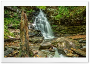 Waterfall HDR HD Wide Wallpaper for Widescreen