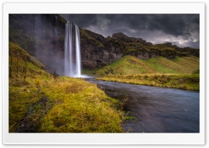 Waterfall, Iceland HD Wide Wallpaper for Widescreen