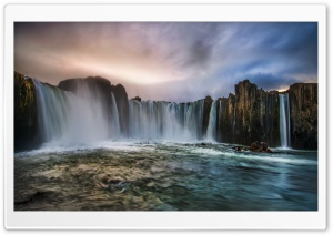 Waterfall In Iceland HD Wide Wallpaper for Widescreen