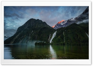 Waterfall In New Zealand Ultra HD Wallpaper for 4K UHD Widescreen desktop, tablet & smartphone