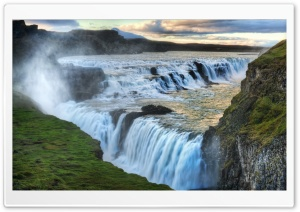 Waterfall Of Gullfoss HD Wide Wallpaper for Widescreen