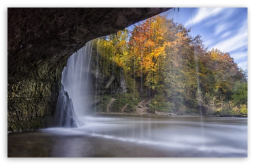 Waterfall Over Cave Autumn ❤ 4K UHD Wallpaper for Wide 16:10 5:3 Widescreen WHXGA WQXGA WUXGA WXGA WGA ; 4K UHD 16:9 Ultra High Definition 2160p 1440p 1080p 900p 720p ; Standard 4:3 5:4 3:2 Fullscreen UXGA XGA SVGA QSXGA SXGA DVGA HVGA HQVGA ( Apple PowerBook G4 iPhone 4 3G 3GS iPod Touch ) ; Tablet 1:1 ; iPad 1/2/Mini ; Mobile 4:3 5:3 3:2 16:9 5:4 - UXGA XGA SVGA WGA DVGA HVGA HQVGA ( Apple PowerBook G4 iPhone 4 3G 3GS iPod Touch ) 2160p 1440p 1080p 900p 720p QSXGA SXGA ;