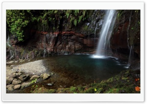 Waterfall Scene HD Wide Wallpaper for Widescreen