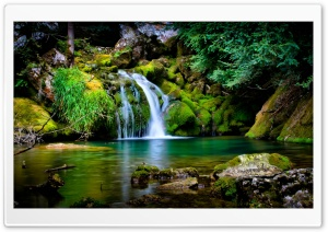 Waterfall Scenery HD Wide Wallpaper for Widescreen