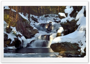 Waterfall Winter HD Wide Wallpaper for 4K UHD Widescreen desktop & smartphone