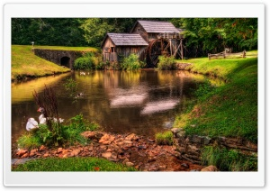 Watermill HD Wide Wallpaper for Widescreen