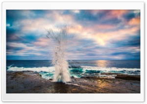 Wave Crashing On Shore HD Wide Wallpaper for Widescreen