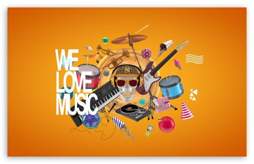 We Love Music HD wallpaper for Wide 16:10 5:3 Widescreen WHXGA WQXGA WUXGA WXGA WGA ; HD 16:9 High Definition WQHD QWXGA 1080p 900p 720p QHD nHD ; Standard 4:3 5:4 3:2 Fullscreen UXGA XGA SVGA QSXGA SXGA DVGA HVGA HQVGA devices ( Apple PowerBook G4 iPhone 4 3G 3GS iPod Touch ) ; iPad 1/2/Mini ; Mobile 4:3 5:3 3:2 16:9 5:4 - UXGA XGA SVGA WGA DVGA HVGA HQVGA devices ( Apple PowerBook G4 iPhone 4 3G 3GS iPod Touch ) WQHD QWXGA 1080p 900p 720p QHD nHD QSXGA SXGA ;