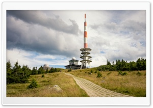 Weather Station, Brocken, Harz mountain range, Germany HD Wide Wallpaper for 4K UHD Widescreen desktop & smartphone