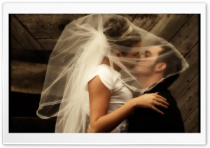 Wedding Kiss HD Wide Wallpaper for Widescreen