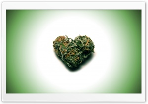 Weed Heart HD Wide Wallpaper for Widescreen