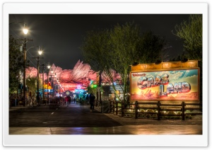 Welcome to Cars Land HD Wide Wallpaper for Widescreen