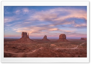 West and East Mittens Buttes, Monument Valley Navajo Tribal Park Ultra HD Wallpaper for 4K UHD Widescreen desktop, tablet & smartphone