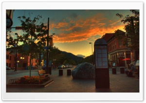 West End of Pearl Street Mall, Boulder Colorado HD Wide Wallpaper for Widescreen