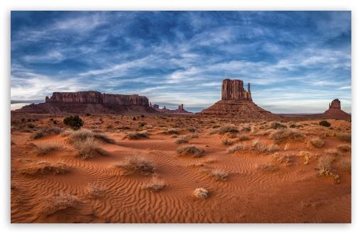 Download West Mitten Butte in Monument Valley Navajo... UltraHD Wallpaper