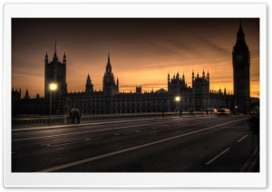 Westminster Palace At Dusk HD Wide Wallpaper for Widescreen