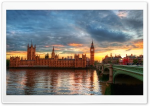 Westminster Palace At Twilight HD Wide Wallpaper for Widescreen