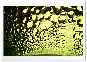 Wet Glass Macro HD Wide Wallpaper for Widescreen