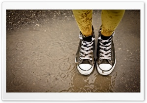Wet Sneakers HD Wide Wallpaper for Widescreen