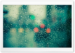 Wet Windscreen HD Wide Wallpaper for Widescreen