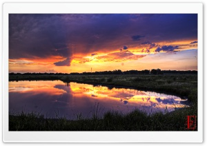 Wetlands Lightshow HD Wide Wallpaper for 4K UHD Widescreen desktop & smartphone