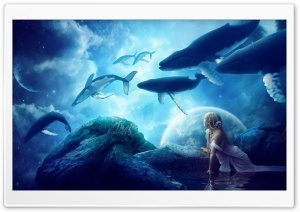 Whales Dream Ultra HD Wallpaper for 4K UHD Widescreen desktop, tablet & smartphone