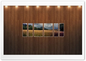 Wheat Field Picture   Wood Wall HD Wide Wallpaper for Widescreen