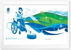 Wheelchair Curling HD Wide Wallpaper for Widescreen