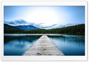 Whistler Coast Mountains Dock HD Wide Wallpaper for Widescreen