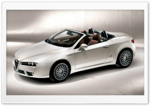 White Alfa Romeo Spider HD Wide Wallpaper for Widescreen