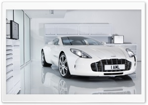 White Aston Martin One 77 HD Wide Wallpaper for 4K UHD Widescreen desktop & smartphone