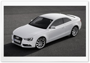 White Audi A5 Coupe HD Wide Wallpaper for Widescreen