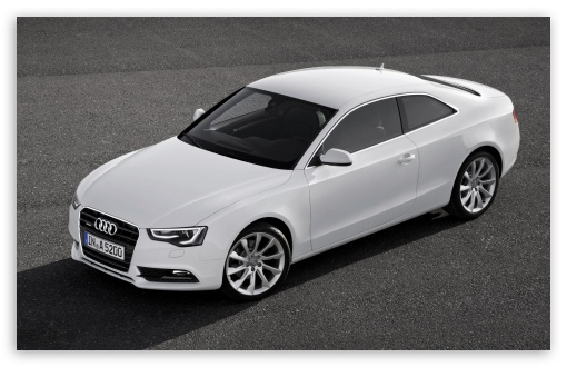 White Audi A5 Coupe 4k Hd Desktop Wallpaper For 4k Ultra Hd Tv