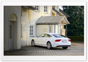 White Audi A7 HD Wide Wallpaper for Widescreen
