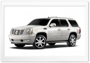 White Cadillac Escalade Hybrid HD Wide Wallpaper for 4K UHD Widescreen desktop & smartphone
