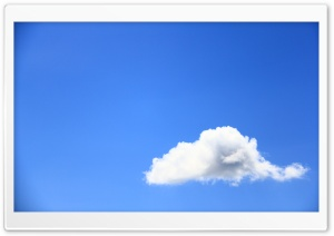 White Cloud Against Blue Sky HD Wide Wallpaper for Widescreen