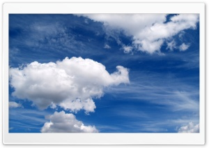 White Clouds HD Wide Wallpaper for 4K UHD Widescreen desktop & smartphone