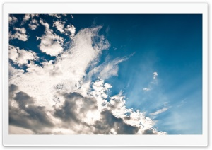 White Clouds Ultra HD Wallpaper for 4K UHD Widescreen desktop, tablet & smartphone