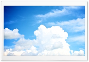 White Clouds In The Sky HD Wide Wallpaper for Widescreen