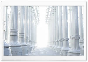 White Columns HD Wide Wallpaper for Widescreen