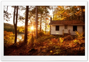 White Cottage HD Wide Wallpaper for Widescreen