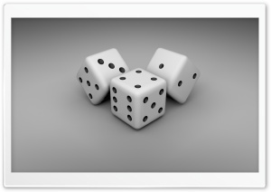 White Dice Ultra HD Wallpaper for 4K UHD Widescreen desktop, tablet & smartphone