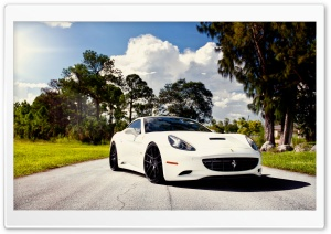 White Ferrari HD Wide Wallpaper for Widescreen