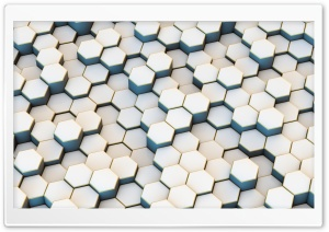 White Hexagons Background Ultra HD Wallpaper for 4K UHD Widescreen desktop, tablet & smartphone