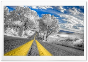 White Infrared Pennsylvania Landscape HD Wide Wallpaper for Widescreen