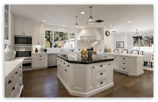 White Kitchen Cabinets 4k Hd Desktop Wallpaper For 4k