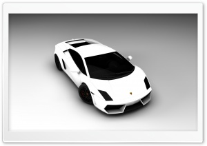 White Lamborghini HD Wide Wallpaper for 4K UHD Widescreen desktop & smartphone